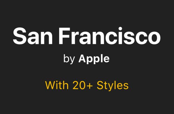 San Francisco Font Family