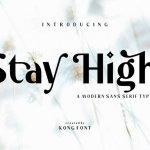 Stay High Sans Serif Font
