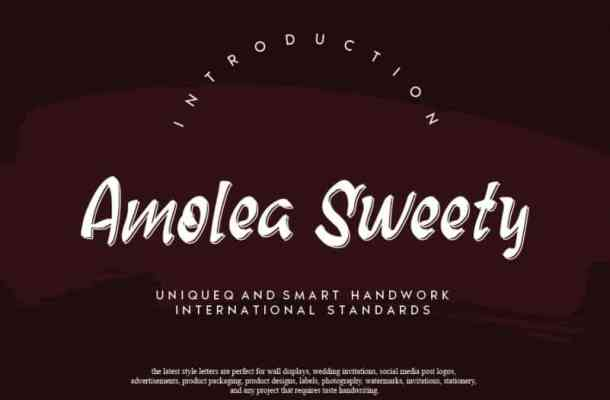 Amolea Sweety Script Font