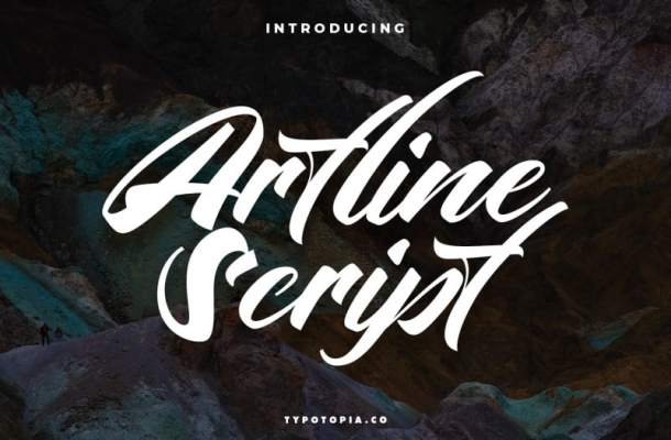 Artline Fancy Script Font