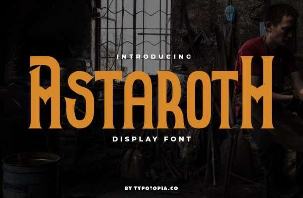 Astaroth Display Font Free