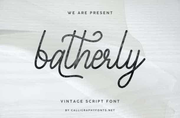 Batherly Handwriting Script Font