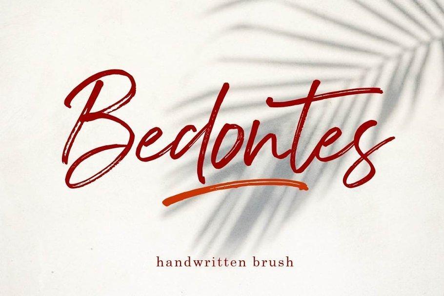 Bedontes-Handwritten-Brush-Font