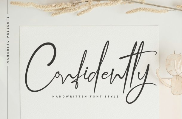Confidently Handwritten Script Font