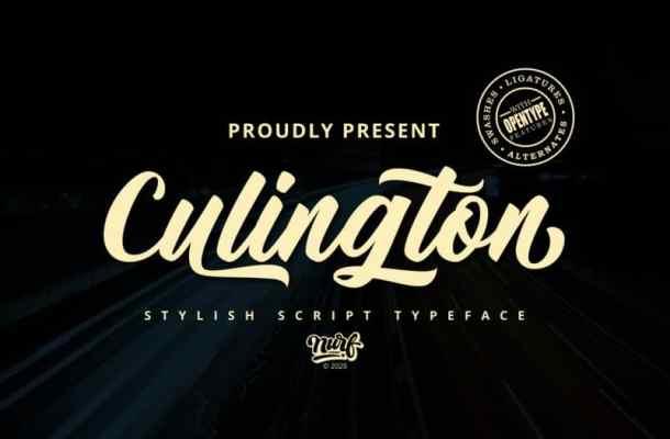 Culington Script Font Free