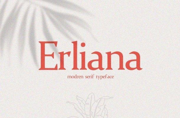 Erliana Modern Serif Typeface