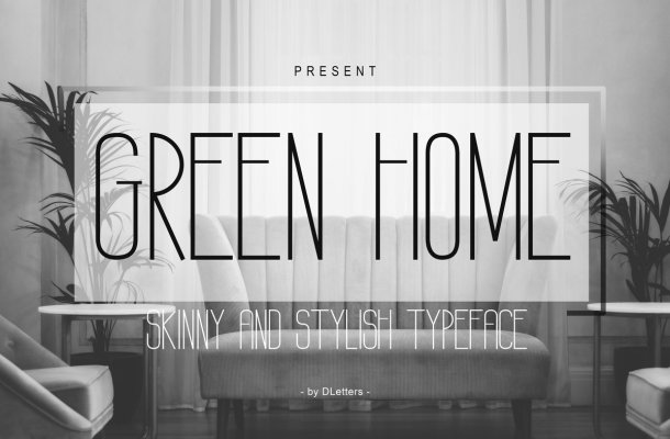 GREEN HOME Sans Serif Typeface