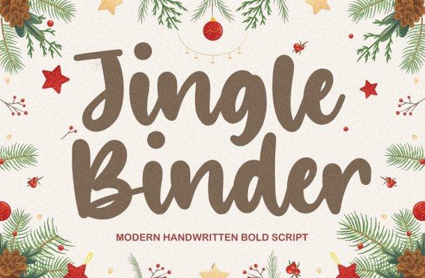 Jingle Binder Handwritten Bold Script Font