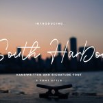 South Harbour Monoline Handwritten Font