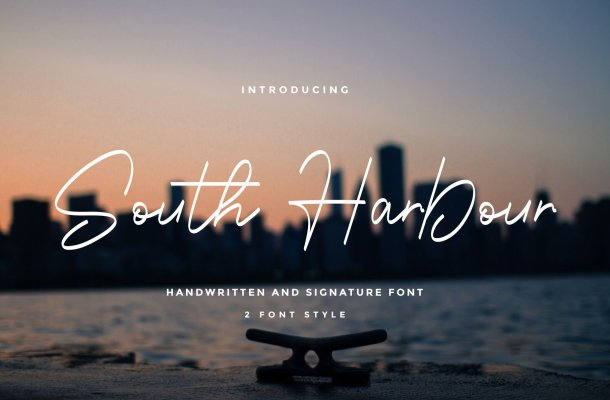 South Harbour Monoline Handwritten Font