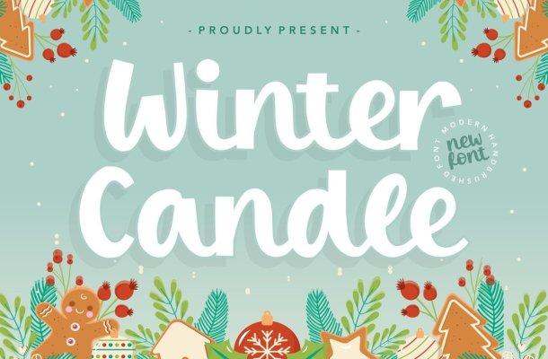 Winter Candle Bold Script Font