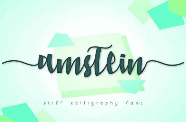 Amstein Script Font Free
