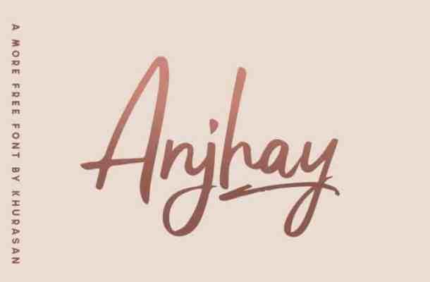 Anjhay Script Font Free