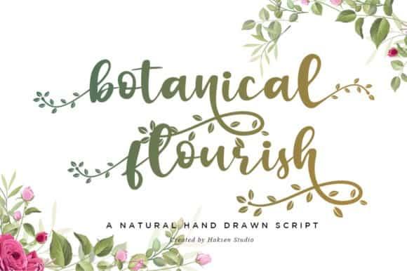 Botanical Flourish Calligraphy Font