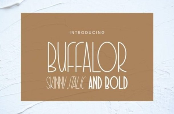 Buffalor Display Font Free