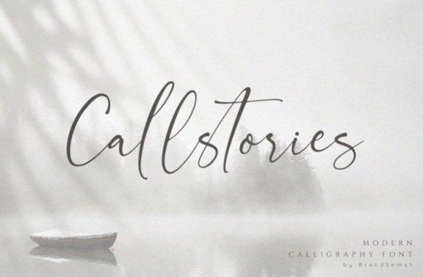 Callstories Handwritten Font