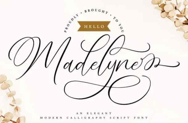 Hello Madelyne Calligraphy Font