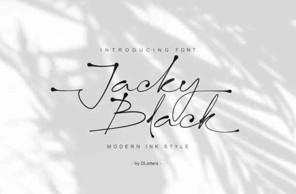 Jacky Black Handwritten Font