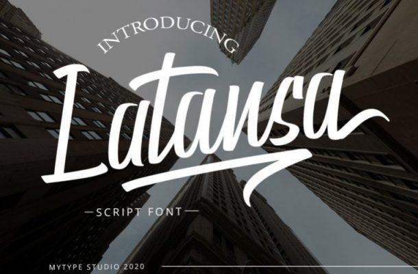 Latansa Script Font Free