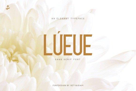 Lueue Sans Serif Font