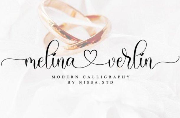 Melina Verlin Calligraphy Font