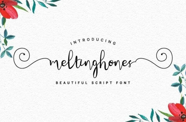 Meltinghones Calligraphy Font