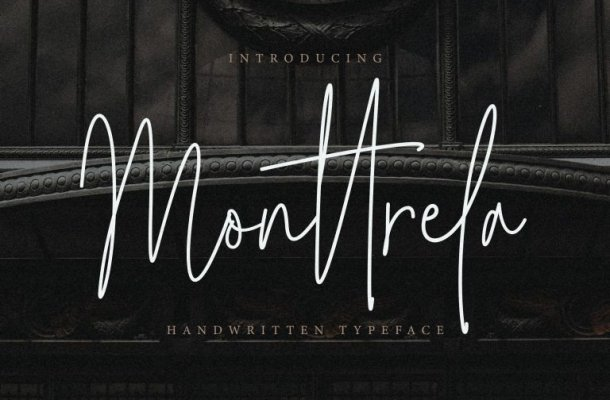 Monttrela Signature Font Free