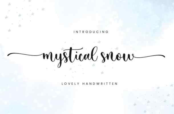 Mystical Snow Calligraphy Font