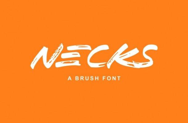 Necks Brush Font Free