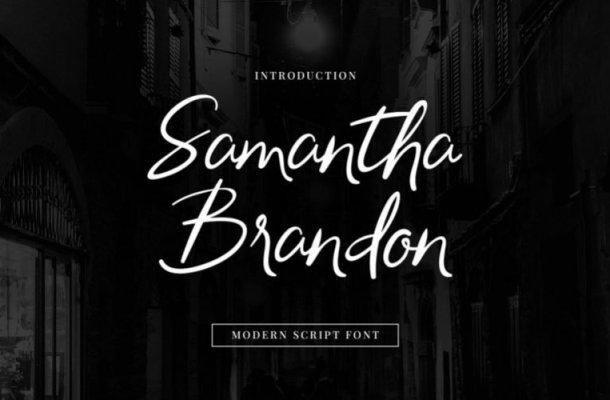 Samantha Brandon Script Font
