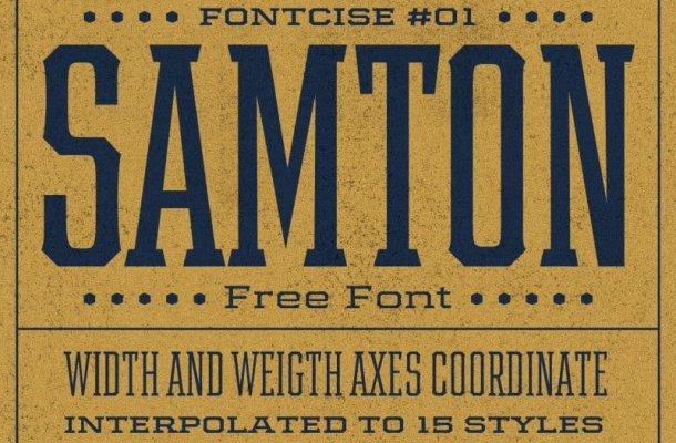 Samton Display Font Family