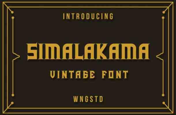Simalakama Vintage Display Font