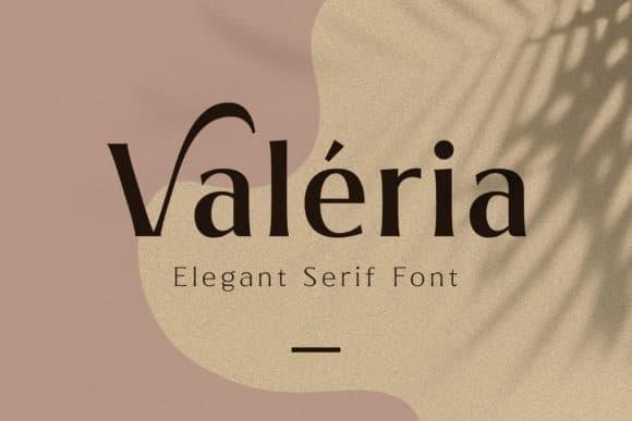 Valeria Sans Serif Font