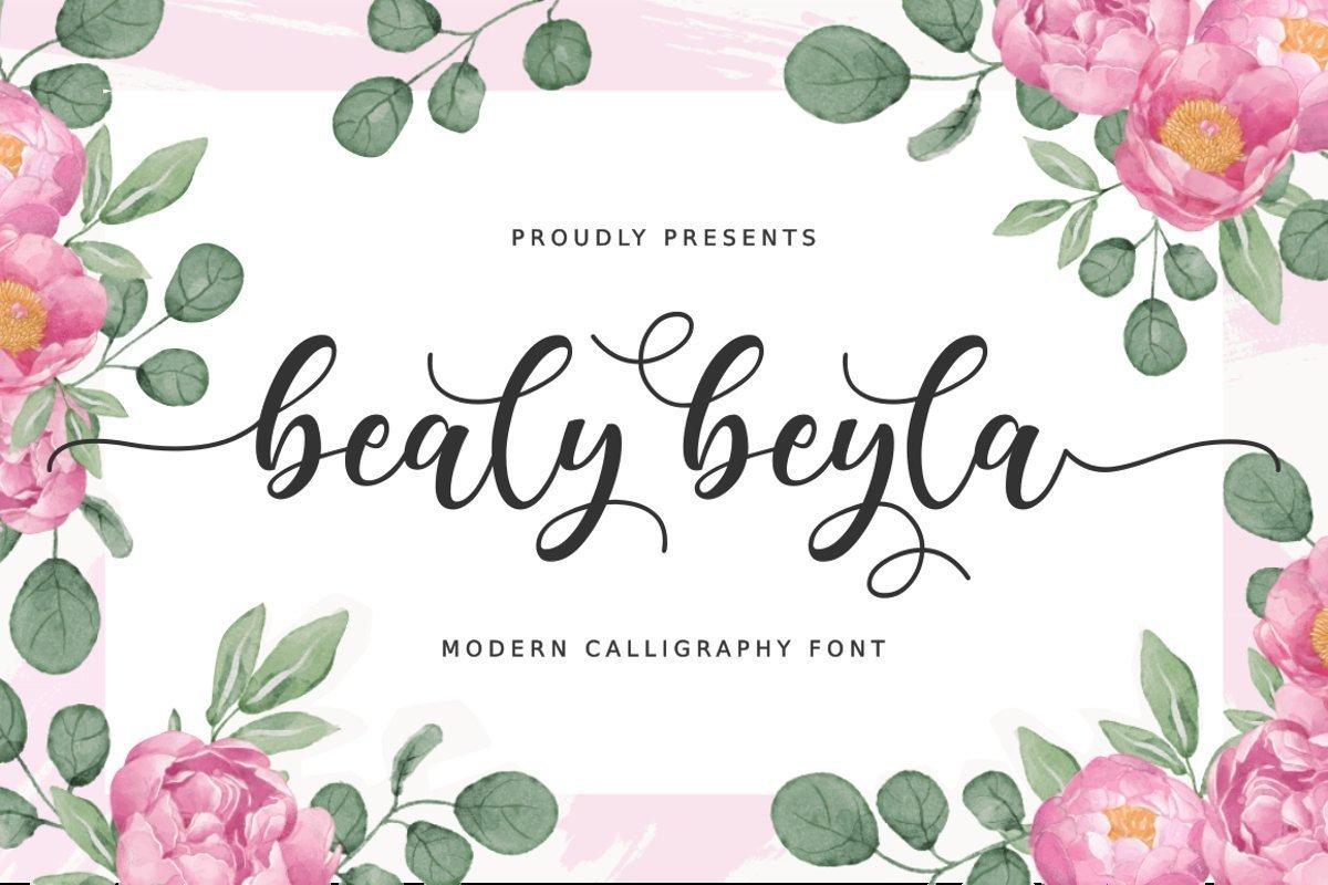 Bealy-Beyla-Font