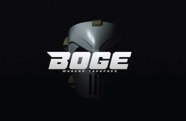Boge Display Font