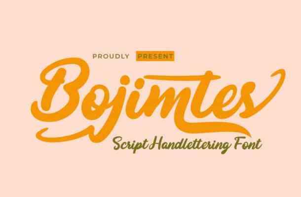 Bojimtes Script Font