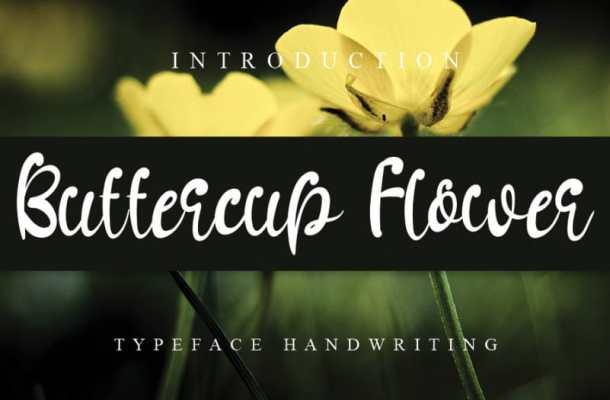 Buttercup Flower Font