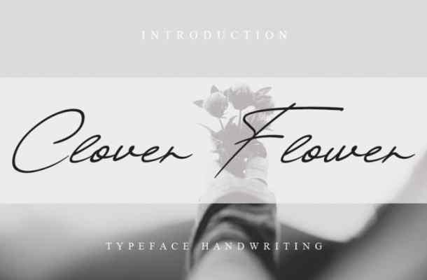 Clover Flower Handwritten Font