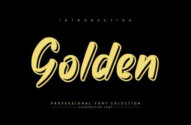 Golden Display Font