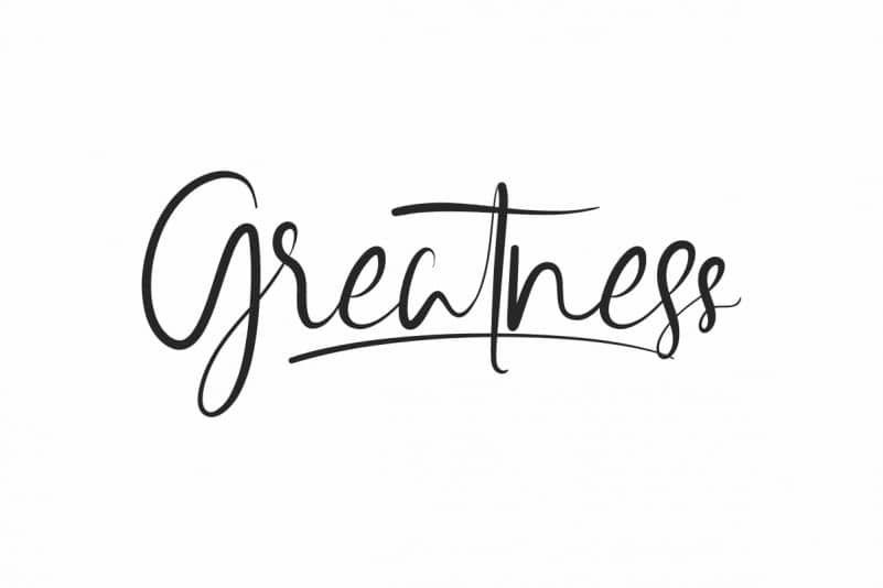 Greatness Calligraphy Font