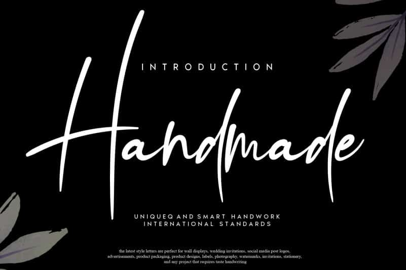 Handmade Script Font