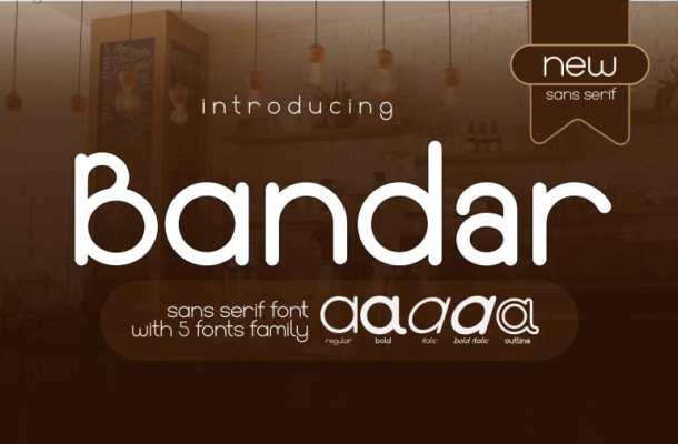 Bandar Sans Serif Modern Font