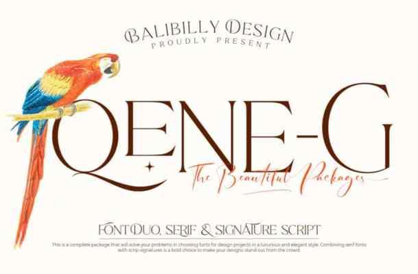Qene-G Serif Font