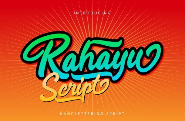 Rahayu Script Font