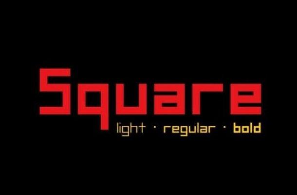 Square Display Font