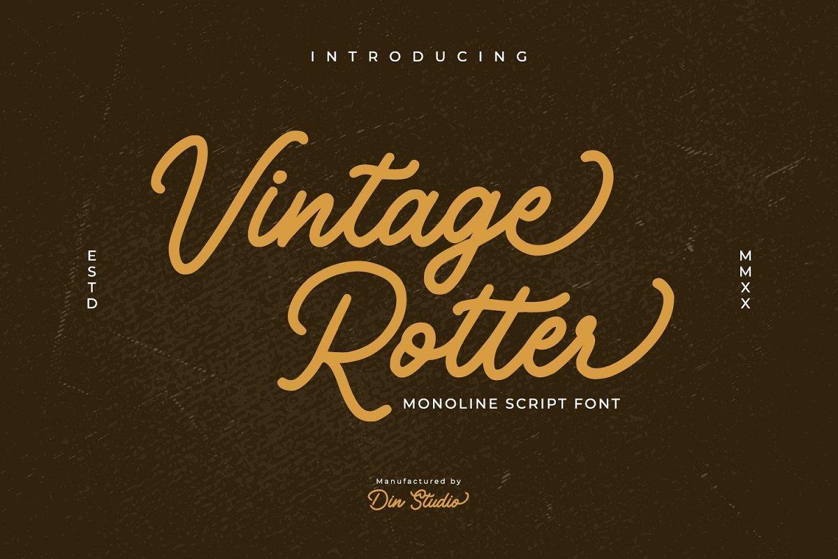 Vintage-Rotter-Font