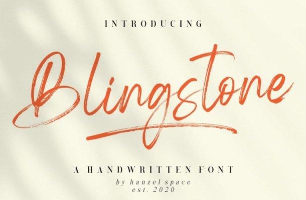 Blingstone Brush Font