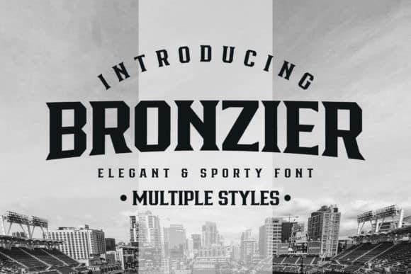 Bronzier Display Font