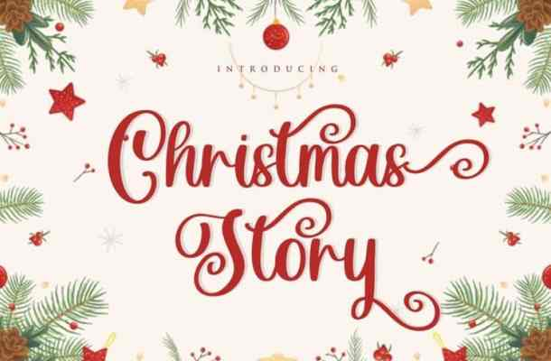 Christmas Story Calligraphy Font