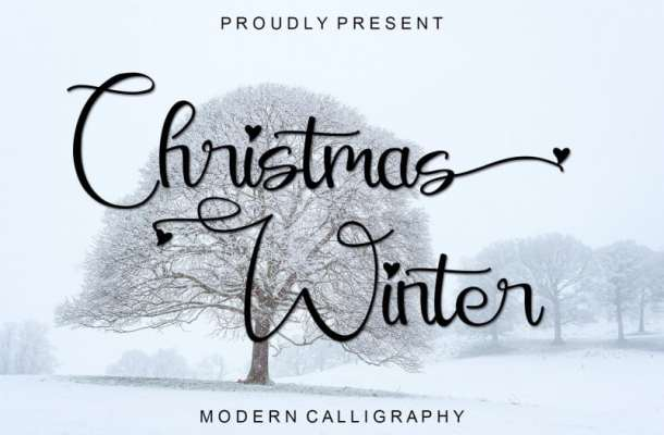 Christmas Winter Calligraphy Font